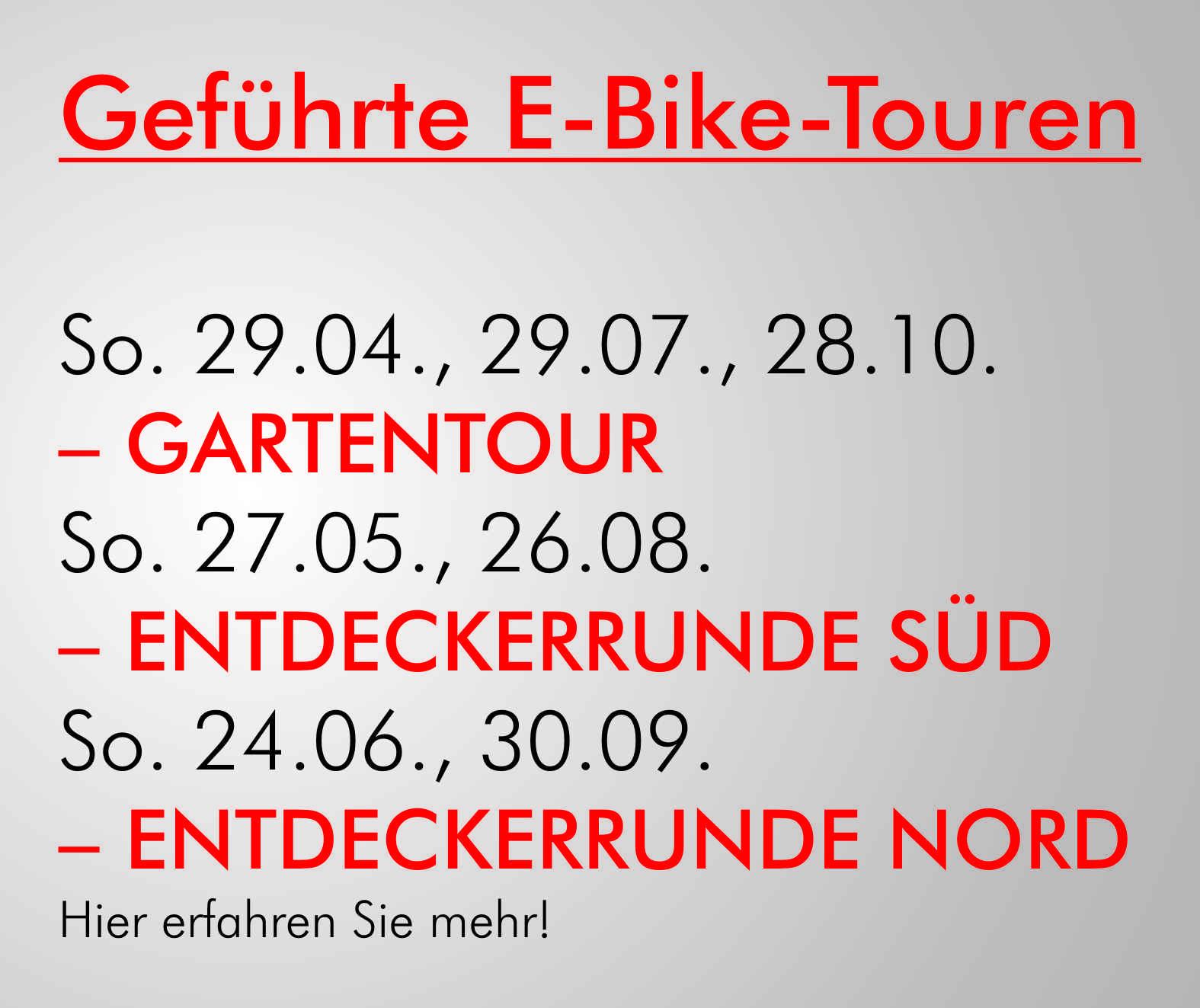 E-Bike mieten | Heinrich Müller ebikes mieten+mehr